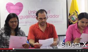 Lanzamiento Campaña Union Civl Igualitaria Ecuador-Siluetax