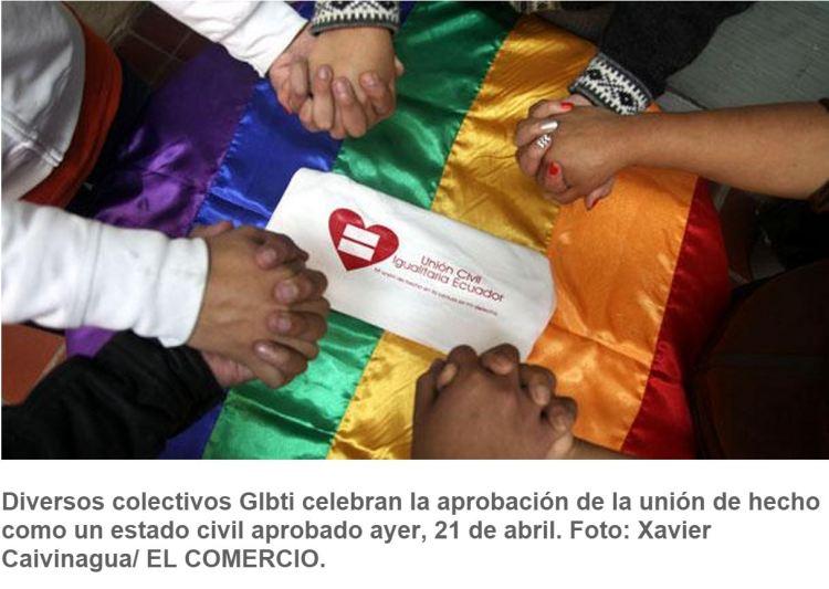 Comunidad Glbti celebra el reconocimiento de la unión de hecho como estado civil