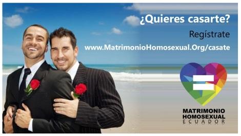 Quieres casarte - Cásate conmigo Matrimonio Homosexual Ecuador del mismo sexo e igualitario